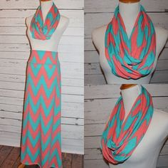 Maxi skirt with matching scarf from Amy Anne Apparel