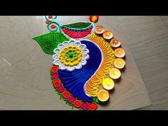 Happy Diwali Rangoli Idea, Best Rangoli ideas for Deepavali 2019 Happy Diwali Rangoli, New Year Rangoli, Diya Rangoli, Peacock Rangoli, Rangoli Ideas, Diwali Craft, Flower Rangoli, Ganesha Rangoli, Rangoli Designs Latest