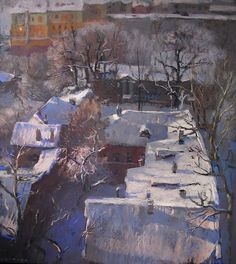Михаил Дуцев (р. 1979) Зимний день. 2004. Б., пастель. 70х60
