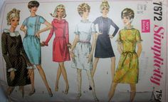 Simplicity 7672 Womens 1960s Vintage Dress Sewing by Denisecraft, $8.99