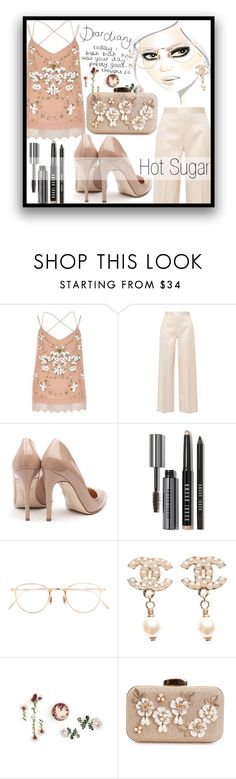 """""""Hot Sugar"""" by mistressofdarkness on Polyvore featuring River Island, The Row, Rupert Sanderson, Bobbi Brown Cosmetics, Eyevan 7285 and Chanel"""