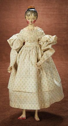 At Play in a Field of Dolls (Part 1 of 2-Vol set): 105 Grodnertal Wooden Doll with Exuberant Curls and Tuck Comb