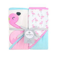 "Carter's Two Pack Hooded Pink Towel Set - Flamingo Design - Carter's  - Babies""R""Us"