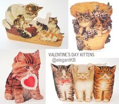 Valentine's day card assortments are in my shop now - some have the most adorable kittens! #ebay #elegantkb
