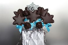 handmade sugar or gingerbread cookies hand dipped in Belgium chocolate
