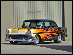 1956 Chevrolet 210  Hot Rod Cover Car and Centerfold Feature