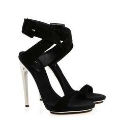 Giuseppe Zanotti black suede sassy sandals