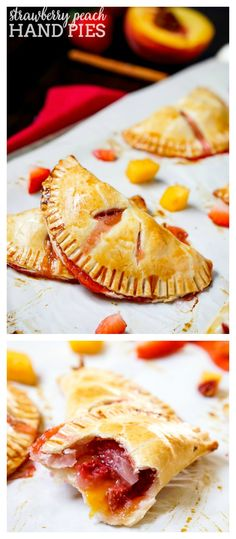 Strawberry Peach Hand Pies Recipe - Combine flavorful peaches with sweet…