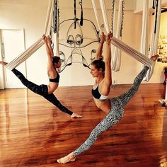 There are a lot of yoga poses and you might wonder if some are still exercised and applied. Yoga poses function and perform differently. Each pose is designed to develop one's flexibility and strength. Aerial Yoga Hammock, Aerial Dance, Aerial Silks, Aerial Acrobatics, Sport Fitness, Yoga Fitness, Anti Gravity Yoga, Air Yoga, Yoga