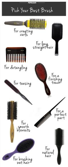 If you're looking for that *perfect* blowout look, invest in a good diagonal or mixed-bristle brush.