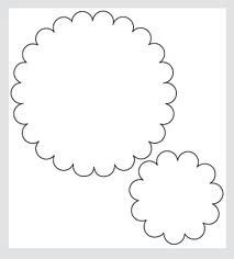 Scalloped circle banner template