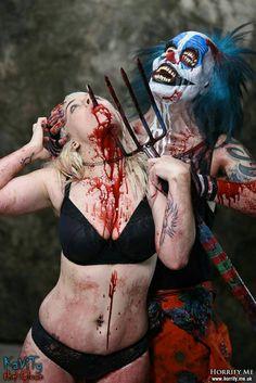 Clown Piercing - Horrify Me, horror photography and portraits of rotting… Clown Horror, Creepy Horror, Creepy Clown, Gothic Horror, Horror Art, Funny Horror, Creepy Stuff, Paranormal, Yandere