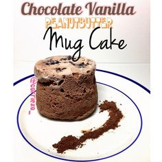 Chocolate Vanilla Peanut Butter Mug Cake