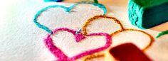 Heart crayons Facebook Cover Photo