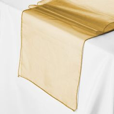 Gold Organza Table Runner $0.99 each!!!! Smarty Had A Party (99 cents to buy)