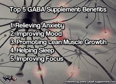 Top 5 GABA Supplement Benefits and how they can enhance your physical and mental well being. #supplements #health #healthyliving