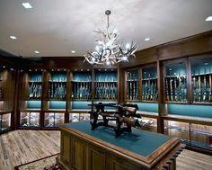 "24 Likes, 1 Comments - LuxeBestaan (@expensive_treasures) on Instagram: ""Love this gun room! #guns #gunroom"""
