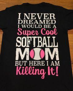 Super Cool Softball Mom Shirt Softball Mom by MicholesMonogramming