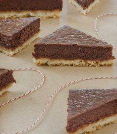 Chocolate Truffle Shortbread Bars Recipe Desserts with all-purpose ...