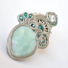 earrings SAGE - Avventurina, cristalli, perline, southache.  http://edefjewels.blogspot.it/2013/03/sage_26.html