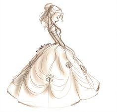 Belle. I wish I could sketch like this. BatB Sketch 01 by mihzu.deviantart.com on @deviantART