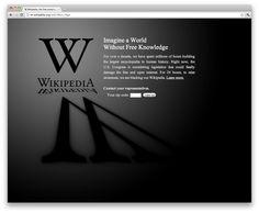 Wikipedia fights SOPA and PIPA