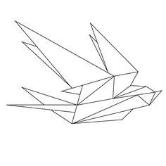 geometric tattoe #origami