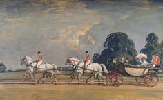 """""""Their Majesties' Return From Ascot"""" by Alfred J. Munnings"""