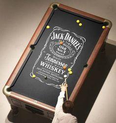 Jack Daniel's Pool table want Festa Jack Daniels, Jack Daniels Whiskey, Whiskey Room, Whiskey Girl, Man Cave Basement, Man Cave Garage, Basement Bars, Man Cave Diy, Man Cave Home Bar