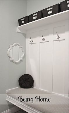 Being Home mudroom bench