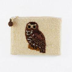 Owl beaded Coin Purse