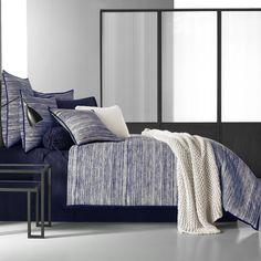 Five Queens Court Felix Indigo Cotton Duvet Cover, King, Blue Full Comforter Sets, Bedding Sets, King Duvet, Queen Duvet, Queens, Black Bedding, California King, Comforters, Furniture