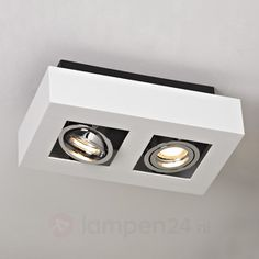 AuBergewohnlich 2 Lamps LED Spot Vince In Wit