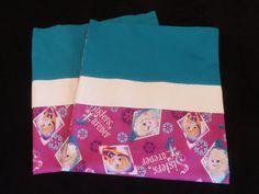 Handmade Disney Frozen Pillowcase standard/full SET by Fabricatedwithlove on Etsy