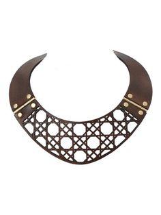 Leather Lace Necklace by Daniella Zagnolli | Flechada