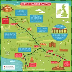 The Settle Carlisle railway passes through glorious countryside of the Yorkshire Dales and Eden Valley Yorkshire Dales, Carlisle, Leeds, Ribblehead Viaduct, Uk Bucket List, England Tourism, Places In England, Summer Travel, Preston