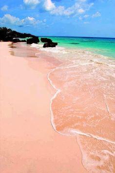 Pink Budelli Beach, Sardinia, Italy