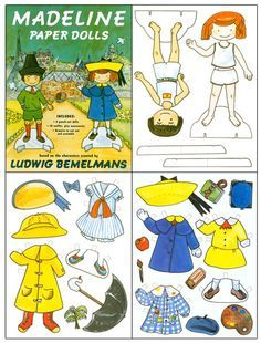 MADELINE Paper Doll based on characters created by Ludwig Bemelmans