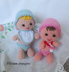 Neonati: maschio e femmina ( Amigurumi), by vetrina miriam chiocciola, 8,00 € su misshobby.com