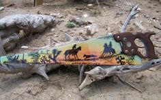5) made of metal - painted saw blade