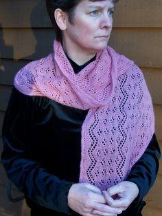 Ravelry: Climbing Roses shawl pattern by Mary C. Gildersleeve #knit, #knitting, #handknitting, #lace, #shawl, #BHWHknits, #MaryGknits, #design, #knitdesign
