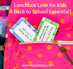 Make Love a Back to School Essential! positive messages, fun facts, jokes and now even riddles for your child's #lunchbox,# back pack or binder