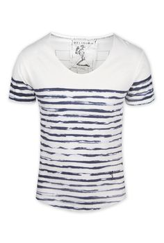 Religion Painted Stripe T-Shirt - White