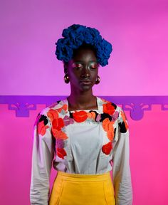 Black Contemporary Art/Stylist John William and photographer Holly Falconer's first editorial for Let Them Eat Cake