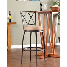 Bratton Adjustable Swivel Counter/ Bar Stool | Overstock™ Shopping - Great Deals on Upton Home Bar Stools
