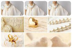 Set of Three Ivory Shawls Wedding Shawl Cream by LunaShawls