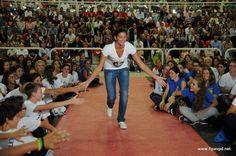 Marta Menegatti, azzurra del beach volley, alla Festa di presentazione (30 settembre 2012, PalaFabris)