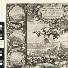 Overwinningen van koning Willem III in Ierland (onderste helft), 1690, Daniel de Lafeuille, 1690 - 1691 - Zoeken - Rijksmuseum