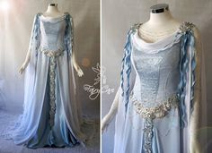 Medieval Gown, Renaissance Clothing, Pretty Outfits, Pretty Dresses, Elvish Dress, Dress Outfits, Fashion Dresses, Fantasy Gowns, Fairytale Fashion