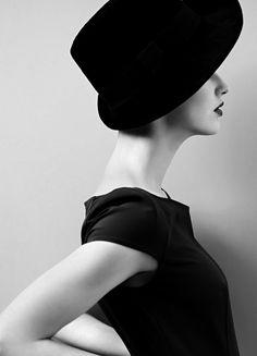 Photo: Armin Morbach | Makeup: Loni Baur -- Portrait - Fashion - Classic - Black and White  Photography